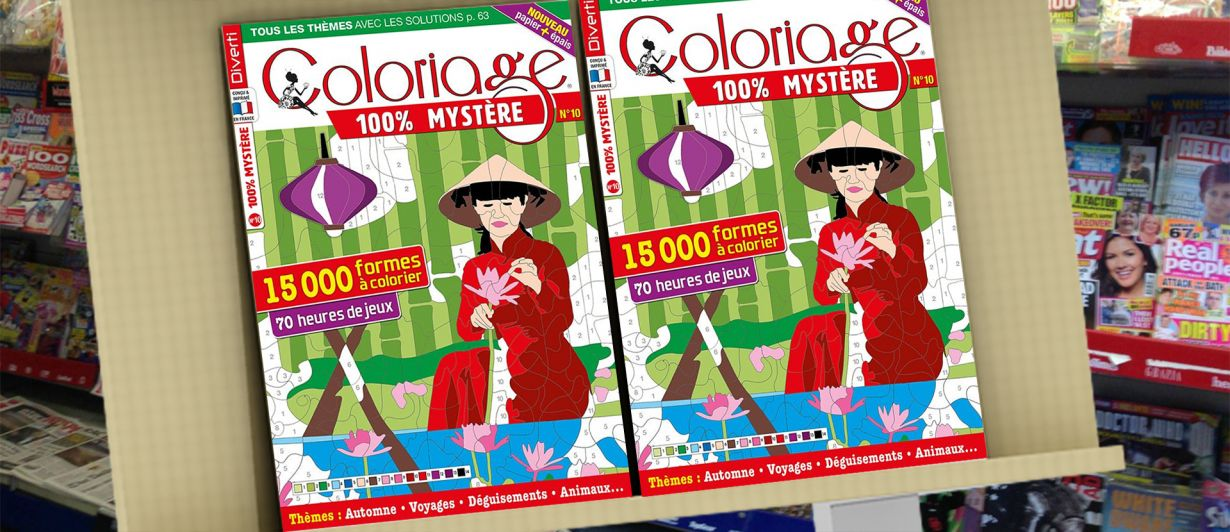 Coloriage 100% Mystère N°10