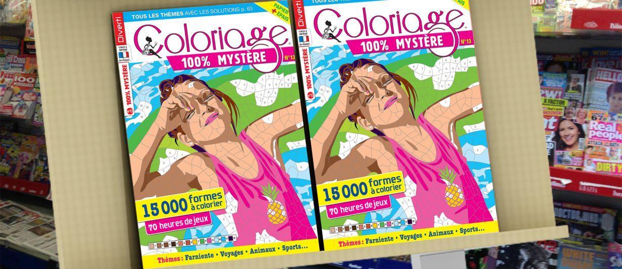 Coloriage 100% Mystère N°13